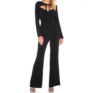 For Love and Lemons long sleeve black jumpsuit